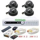 H.264 4 Channel Digital Video Recorder + Black Dome Camera