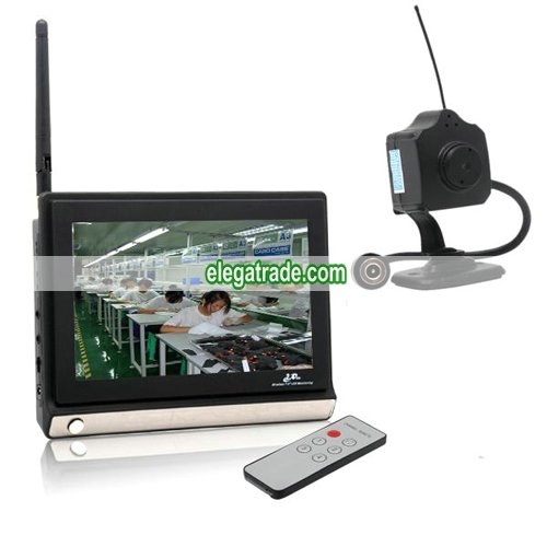 2.4G Wireless Pinhole Hidden Camera + Monitor - 4 Channel