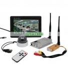 2.4G Wireless Receiver Transmitter Dome Camera + 7-inch TFT Color Monitor- 1 Channel