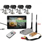 2.4G Wireless Receiver Transmitter Goblet Camera + TFT Color Monitor - 4 Channel