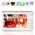 8G Capacity Music Player Recording Browsing History Bookmark HD 1080P 7-inch Ebook Reader