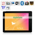 Android 2.2 Amlogic ARM WIFI Bluetooth Camera 8-inch Resistive Touch Screen Tablet PC - A908