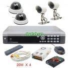 H264 4 Channel Digital Video Recorder + White Dome Camera + FAI8 16LEDs Camera