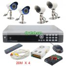 H264 4 Channel Digital Video Recorder + FAI5 48LEDs Camera + FAI8 16LEDs Camera