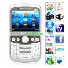 Q7 Cameras Wifi TV Bluetooth Java 2.31 - inch QVGA LCD Screen Phone - White
