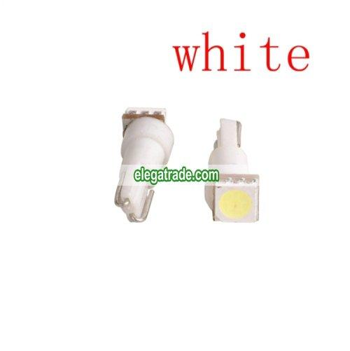 Car T5 5050 SMD Dashboard LED bulbs light - white(1 Pair)