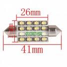 41mm 16 SMD Festoon License Plate LED Car Light 12V White (1 Pair)