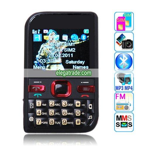 7610 Dual Band Dual Cards Dual Standby Single Camera Bluetooth 2.1-inch Display Screen Phone