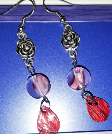 Pink RIbbons and Roses with Shells