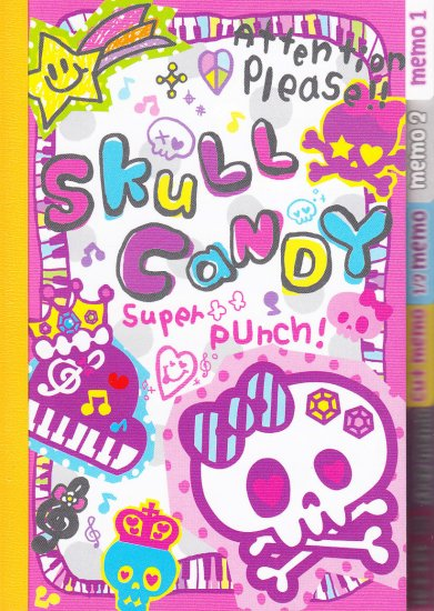 Q-Lia Skull Candy regular tab memo
