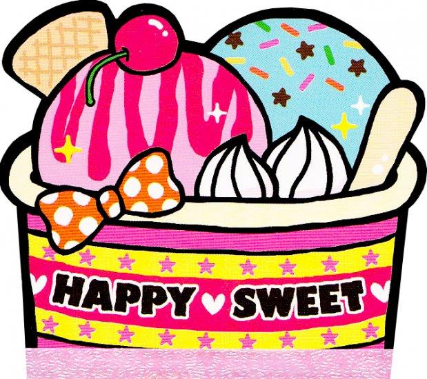 Kamio Japan Happy Sweet die cut memo