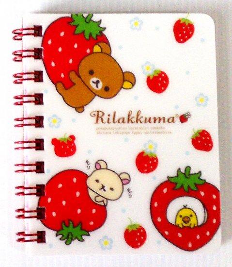 San-X Rilakkuma Strawberry Mini Ring Binding Notebook 2
