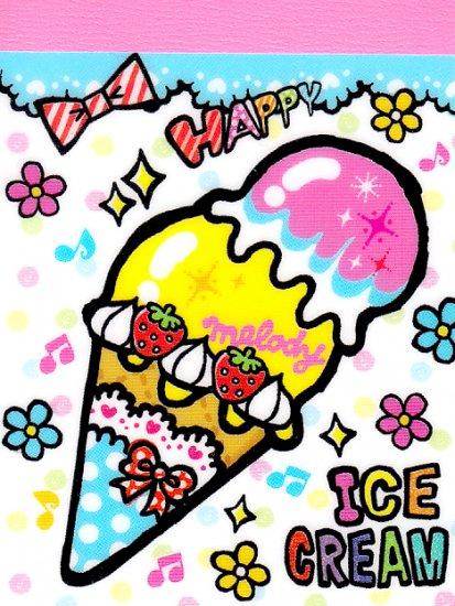 Kamio Japan Happy Ice-Cream mini memo