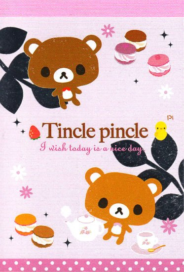 San-X Tincle Pincle Mini Memo
