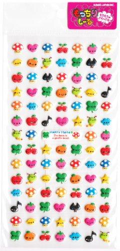 Kamio Japan Happy Mate Puffy Sticker Sheet