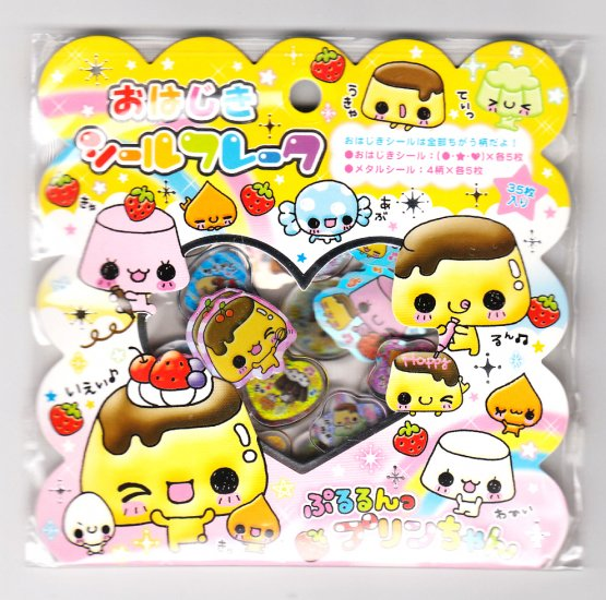 Kamio Japan Pururun Purin Chan Crystal Sticker Sack