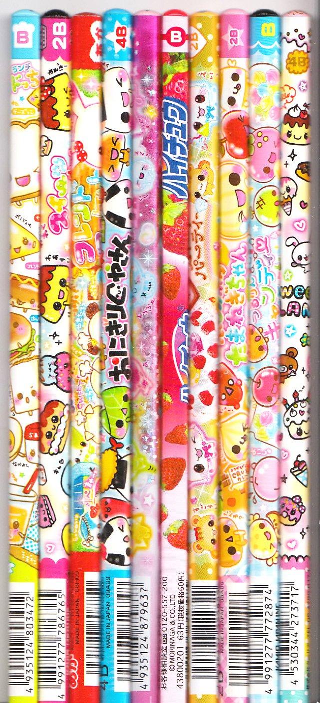 Kawaii Japanese Wooden Pencils Set 32