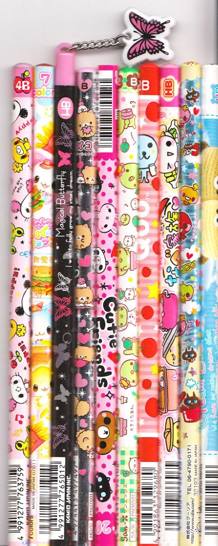 Kawaii Japanese Wooden Pencils Set 27