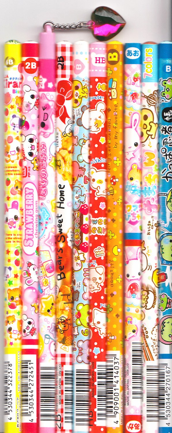 Kawaii Japanese Wooden Pencils Set 23