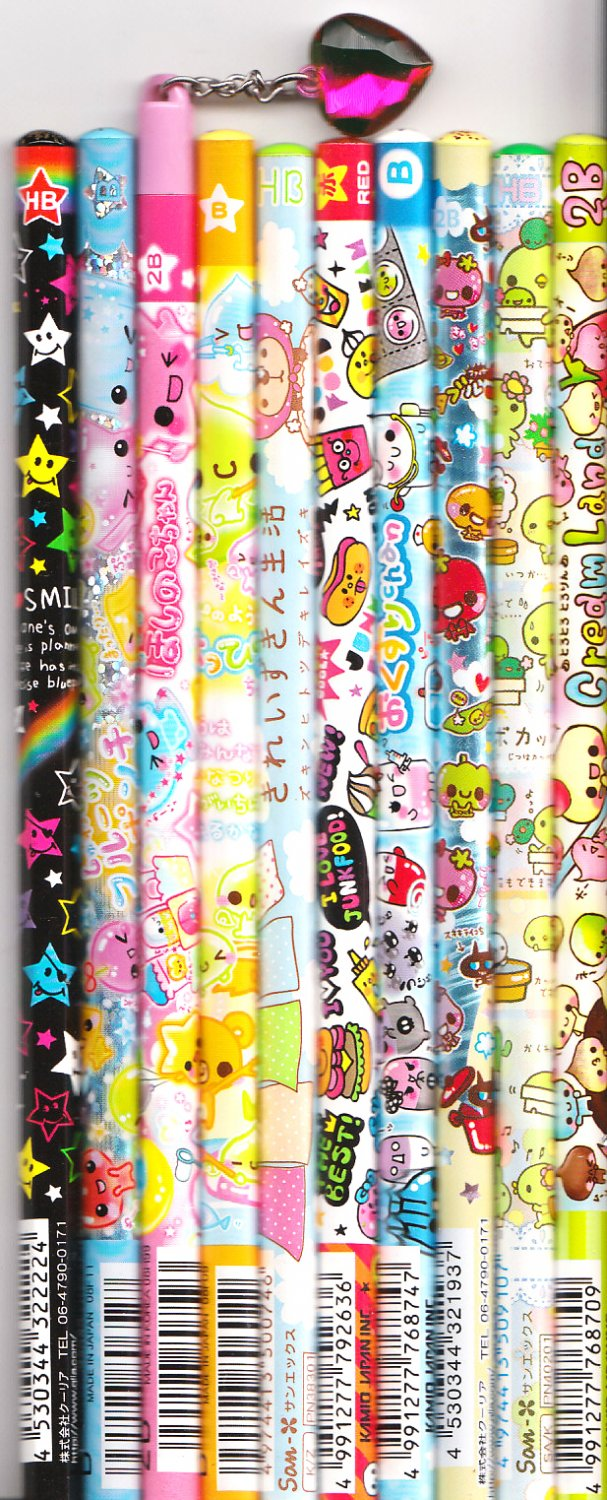 Kawaii Japanese Wooden Pencils Set 18