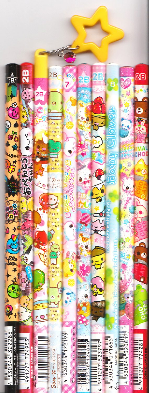 Kawaii Japanese Wooden Pencils Set 16