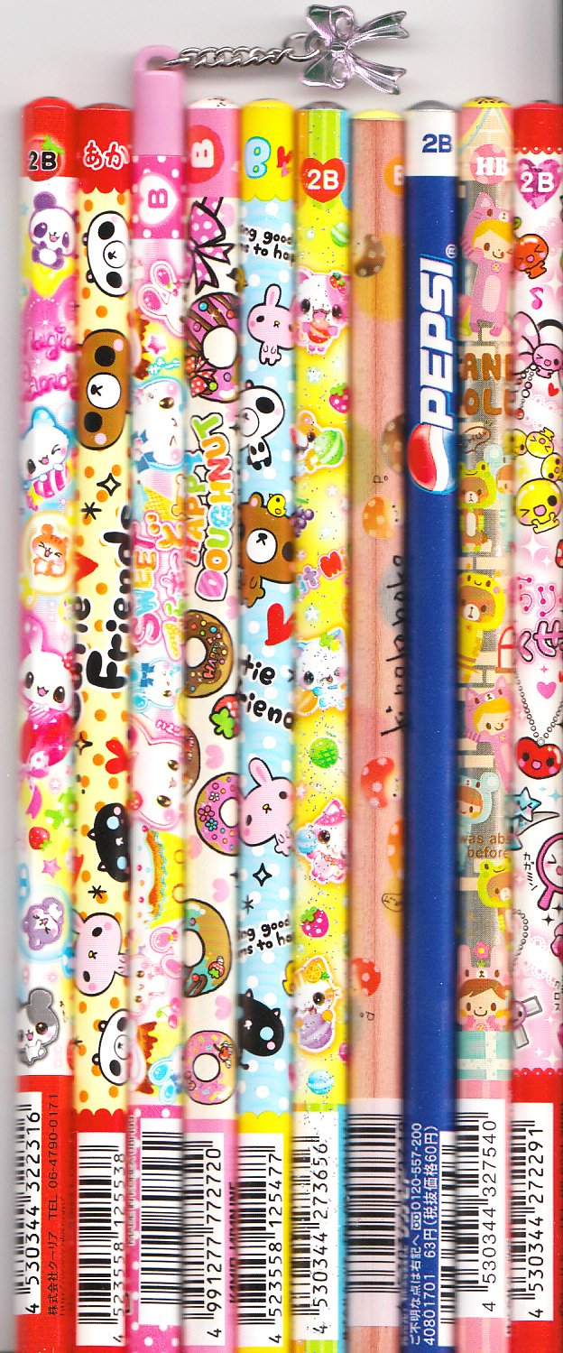 Kawaii Japanese Wooden Pencils Set 10