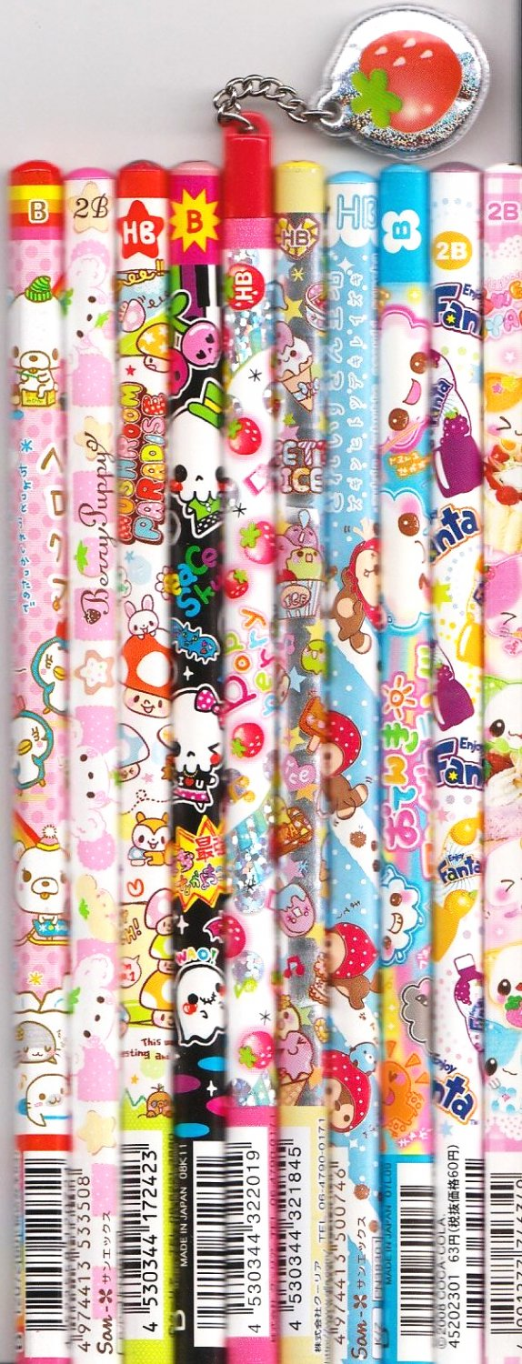 Kawaii Japanese Wooden Pencils Set 1
