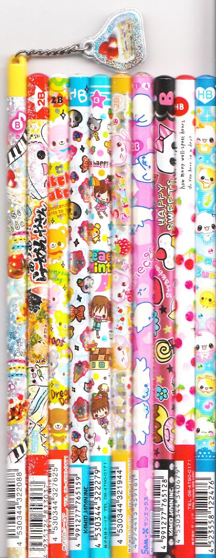 Kawaii Japanese Wooden Pencils Set 33