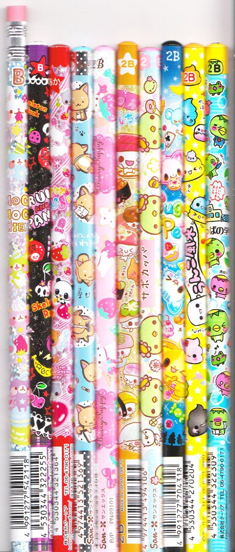 Kawaii Japanese Wooden Pencils Set 34