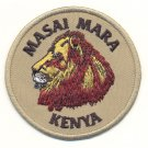 MAASAI MARA WITH LION PATCH - EMBROIDERED BADGE