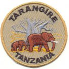 TARANGIRE TANZANIA ELEPHANT PATCH  - EMBROIDERED BADGE