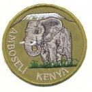 AMBOSELI KENYA PATCH  - EMBROIDERED BADGE