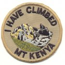 I HAVE CLIMBED MT. KENYA PATCH  - EMBROIDERED BADGE