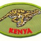 KENYA CHEETAH PATCH  - EMBROIDERED BADGE