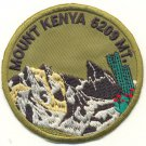 MOUNT KENYA 5209 METERS PATCH  - EMBROIDERED BADGE