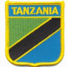 TANZANIA FLAG PATCH  - SHIELD - EMBROIDERED BADGE