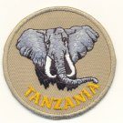 TANZANIA ELEPHANT PATCH  - EMBROIDERED BADGE