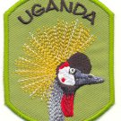 UGANDA CRESTED CRANE PATCH  - EMBROIDERED BADGE