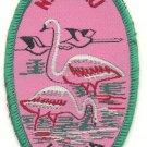 NAKURU KENYA FLAMINGO PATCH  - EMBROIDERED BADGE