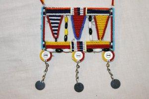 AFRICAN MAASAI (MASAI) BEAD NECKLACE/PENDANT -KENYA #54