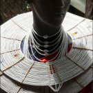 AFRICAN MAASAI (MASAI) BEAD CHOKER NECKLACE - TZ #25