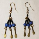 AFRICAN ART BRASS BEADED EARRINGS - KENYA #08