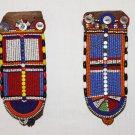 AFRICAN ANTIQUE MAASAI (MASAI) BEAD EARRINGS -KENYA #07