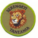 SERENGETI TANZANIA LION PATCH  - EMBROIDERED BADGE