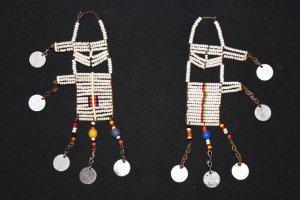 AFRICAN MAASAI (MASAI) TRADITIONAL EARRINGS - TANZANIA