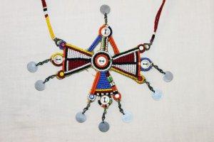 AFRICAN MAASAI (MASAI) BEAD NECKLACE/PENDANT -KENYA #75