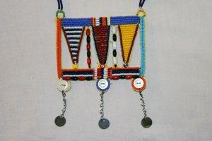AFRICAN MAASAI (MASAI) BEAD NECKLACE/PENDANT -KENYA #73