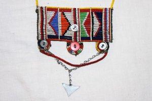 AFRICAN MAASAI (MASAI) BEAD NECKLACE/PENDANT -KENYA #16