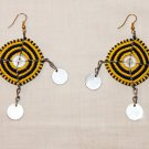 AFRICAN MAASAI (MASAI) EARRINGS - YELLOW -MADE IN KENYA