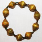 UGANDA PAPER BEADED BRACELET HANDMADE - MEDIUM BEAD #20